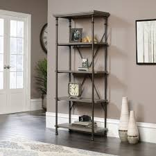 Sauder White Bookcase by Canal Street 5 Shelf Bookcase 419228 Sauder