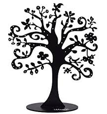 jewelry tree stand metal jewelry organizer holder