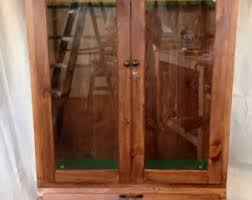 Wood Gun Cabinet Gun Cabinet Etsy