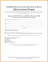 Charitable Contribution Receipt Template Donation Form Templates Non Profit Donation Receipt Form Template