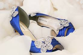 silver and royal blue wedding butterfly wedding shoes royal blue peep toe wedding shoes