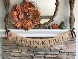 give thanks fall burlap banner fall banner fall decor fall