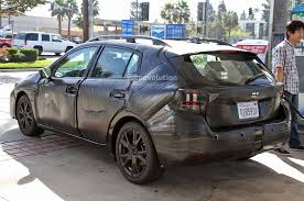 subaru sti 2017 spyshots 2017 subaru impreza gets more premium looking interior
