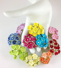 Flowers For Crafts - small paper flowers webwoud