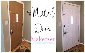 How To Paint An Exterior Door A Metal Door Makeover A And An Ad Space