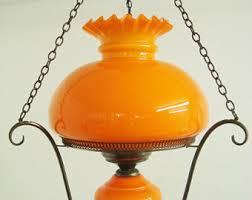 Orange Glass Chandelier 1970s Chandelier Etsy