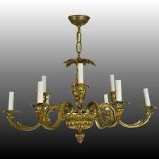 Baroque Chandelier Vintage Brass Baroque Chandelier Sold Ruby