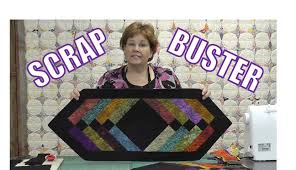 how to make a table runner with pointed ends scrap buster make easy table runner using the binding tool youtube