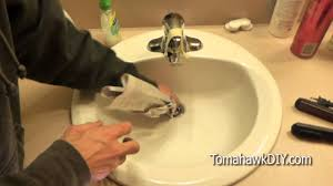 clogged sink easy to fix a clogged sink no tools needed youtube
