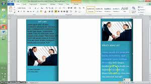 brochure templates for word 2007 word 2010 tutorial make a brochure in 10 min