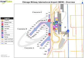 Map Of Chicago Airport by Chicago Chicago Midway International Mdw Airport Terminal Maps