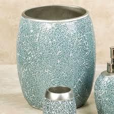 calm waters light aqua mosaic bath accessories aqua mosaic