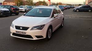 used seat leon 1 2 tsi se 5dr technology pack white 2014 youtube