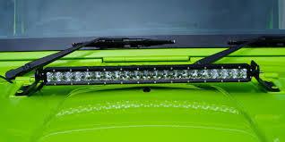 jeep jk hood led light bar bonnet hood light bar bracket mount led light mount for 07 14