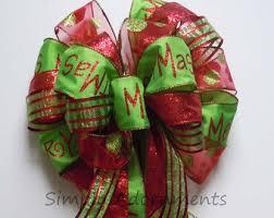 christmas tree bow topper items similar to black christmas topper bow chevron polka dots