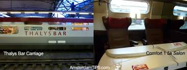 Thalys Comfort 1 International Train Rail Services To From Amsterdam