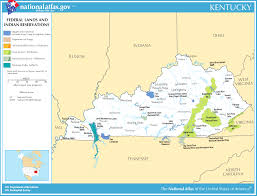 kentucky map map of kentucky map federal lands and indian reservations