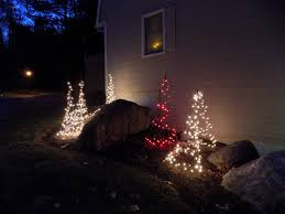 tripods as outdoor christmas trees fabulous idea