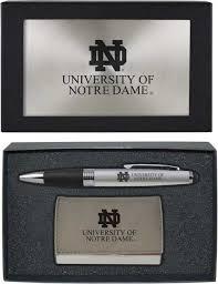 Notre Dame Desk Accessories Of Notre Dame Business Card Holder And Pen Set