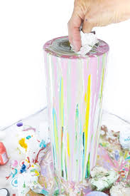 How To Paint A Vase Painted Glass Vase For Springtime Decorating In My Own Style