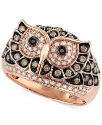 brown diamond engagement ring confetti by effy white and brown diamond owl ring 3 4 ct t w