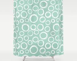 Mint Shower Curtain Mint Green Shower Curtain Aqua Blue Shower Curtain Bath