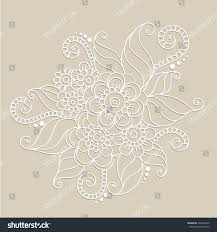 handdrawn abstract henna mehndi flower ornament stock vector