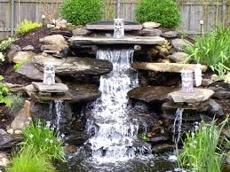 Backyard Waterfalls Ideas Amazing Waterfall Design For Home Pictures Best Idea Home Design