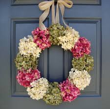 hydrangea wreath door nice home decor with charm hydrangea