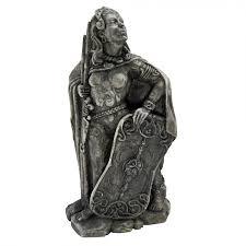 dragon home decor morrigan celtic warrior goddess stone finish statue paul borda