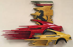 scuderia by dennis hoyt wood wall hanging sculpture