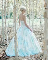 wedding dress etsy floral blue wedding dress watercolor bonaparte silk cotton