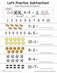 let u0027s practice subtraction 1 to 10 worksheet education com