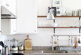 Small Kitchen Open Shelving My Small Kitchen Before And After Bay On A Budget