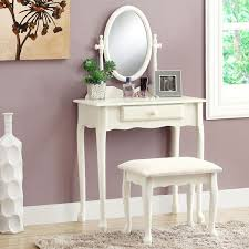 Vanity With Stool Antique White Vanity Set With Stool Free Shipping Today