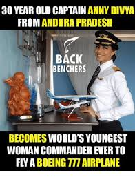 30 year old captain anny divya from andhra pradesh back benchers