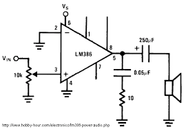 lm386 schematic diagrams