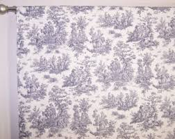 Blue Toile Curtains Blue Toile Curtains Etsy