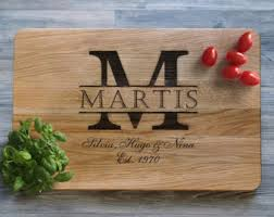 personalized cutting board wedding wedding monogram etsy