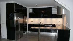 meuble cuisine laqué noir meuble de cuisine noir laqu beautiful une cuisine pour une