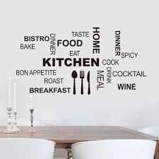 aliexpress com buy kitchen wall quotes art food wall stickers aliexpress com buy kitchen wall quotes art food wall stickers diy vinyl adesivo de paredes home decals art posters sofa wall home decoration from reliable