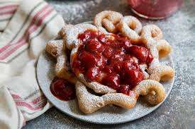 strawberry funnel cake the little epicurean