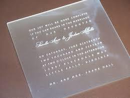 acrylic wedding invitations kawaiitheo com