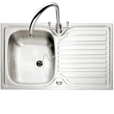 inset sinks kitchen caple crane 90 single bowl stainless steel inset kitchen sink