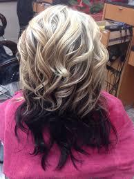 client request bottom half dark chesnut brown top half blonde