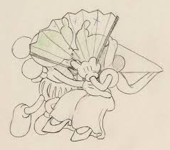 ye olden days mickey mouse and minnie mouse animation drawing
