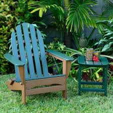 Outdoor Table Set by Furniture Green Painted Teak Adirondack Chair With Small Outdoor