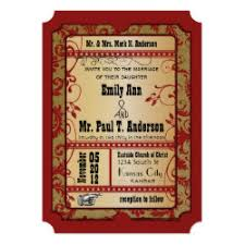 Movie Ticket Wedding Invitations Gold Ticket Wedding Invitations