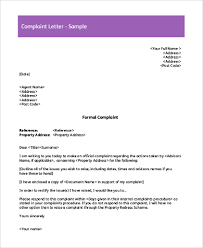 sample complaint letter 8 free documents in word pdf