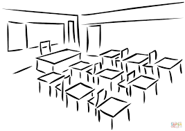 classroom coloring page free printable coloring pages